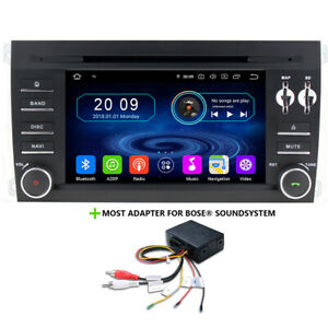 Porsche Cayenne Bose Amp Android 9 Car Radio Touchscreen GPS Navigation DVD USB