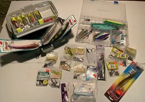 Huge Saltwater Fishing Tackle Lot Containing Both New And Used Hooks And Lures
