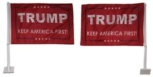 12x18 Trump Keep America First Red Double Sided Knit Car Vehicle 12quot;x18quot; Flag