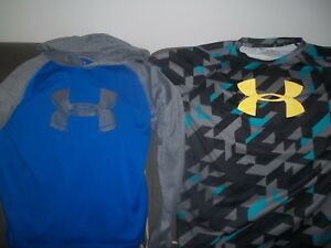 Under Armour Tops Boys Youths XLarge Lot of 2 Loose coupe heat gear