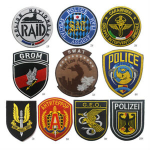 CounterStrike Force badge patches Police Swat team Army Embroidery Hook Patch