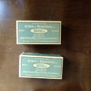Vintage Replica 44 Smith & Wesson Special Ammo Box Cartridge Boxes QTY 4 Boxes