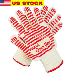 Heat Resistant Gloves Oven Mitts ,Non-Slip Silicone Grip for kitchen BBQ