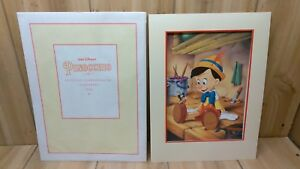 Pinocchio Exclusive Commemorative Lithograph 1993 Disney Store