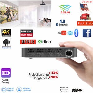 Akaso 5500 Lumens 16G DLP Android 7.0 Full HD 1080p Projector Wifi HDMI 2019 New