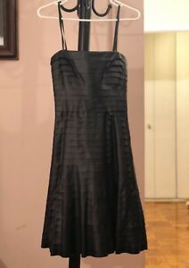 Brand New Black Bare shoulder BCBG Maxazria Tiered Ruffle Dress