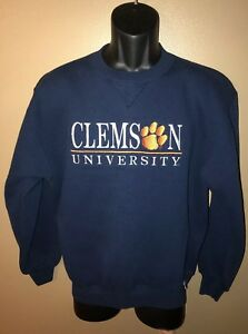 VTG 80s 90s CLEMSON UNIVERSITY TIGERS 5050 Sweatshirt Russell Athletic USA M