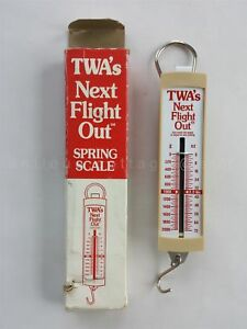 vintage TWA airline NEXT FLIGHT OUT SPRING weight SCALE ohaus souvenir