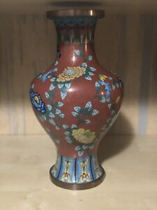 Chinese antique cloisonne vase $800.00
