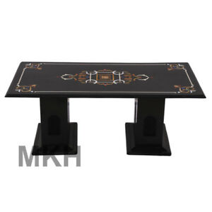 Marble Dining Tables Vintage Coffee Table Stone Inlay End Table Top Mid Century