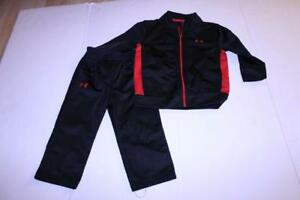 Infant Baby Under Armour Sz 18 Mo. Outfit Pants amp; Jacket Black amp; Red $19.99