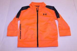 Infant Baby Under Armour Sz 18 Mo. Outfit Pants amp; Jacket Orange amp; Grey $19.99