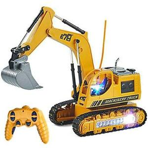 RC Pull Back Vehicles Excavator Truck Toy Construction Tractor Car For Toddler