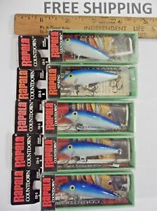 Hard to Find Rapala CountdownCD-5 BBlueIreland Made LOT OF 5 FISHING LURES