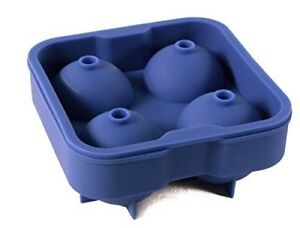 PACK OF 12 - ICE BALL MOLD 4 BALL SILICON BLUE-2pk