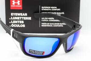 NEW UNDER ARMOUR LAUNCH SUNGLASSES BlackBlue Mirror Storm Polarized ANSI Z87.1