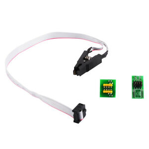 SOIC8 SOP8 Test Clip For EEPROM in-circuit Programming Cable + 2 Adapters TE1115