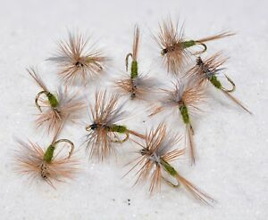12 Flies Blue Winged Olive Dry Fly Mustad Signature Fly Fishing Hooks $8.50