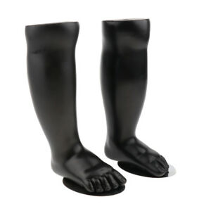 1 Pair of Baby Foot Mannequins Legs Shank Mold for Socks Shoes Display