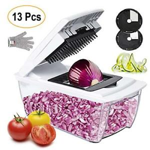 Onion Chopper Pro Mandoline Slicer Dicer 13 in 1 Adjustable Food