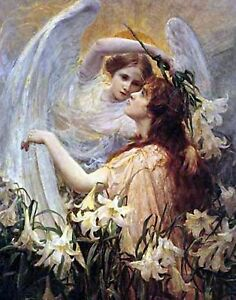 Angel's Message by George Swinstead. Giclee Fine Art Made in U.S.A. Prints