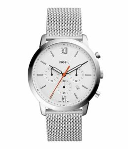 New Fossil Men Chronograph Neutra Stainless Steel Mesh Bracelet Watch