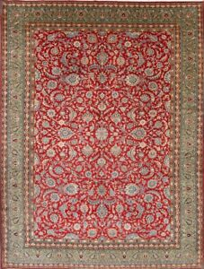 260 Knotts Vegetable Dye All-Over Floral 10x14 Oushak Persian Oriental Area Rug
