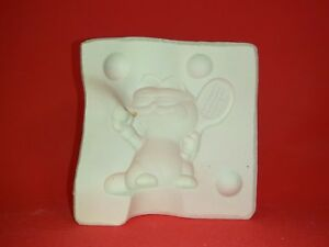 Fantasy Garfield Playing Tennis Mold Ceramic or Porcelain Slip Casting Molds