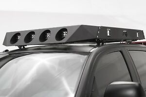 Fab Fours RR14-1 Roof Rack Powder Coated 4 Light Face Plate - Universal