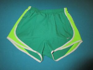 NIKE Womens Green Athletic Running Shorts Size Small S