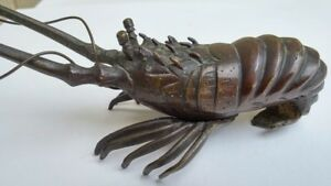 Antique Bronze Shrimp Lobster Crayfish