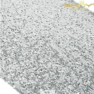 Silver Sequin Table Runner 13in X 108in Silver Table Runners Pack of 12 S... New