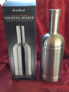 NEW NIB  FLAWLESS Exquisite FINAL TOUCH Stainless Steel COCKTAIL MARTINI SHAKER