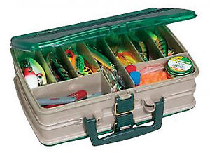 PLANO MOLDING CO Tackle Box Satchel-Style 20-Compartment SandstoneGreen