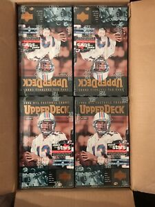 1996 UPPER DECK NFL FOOTBALL FACTORY SEALED HOBBY BOXES CASE (24 BOXES)
