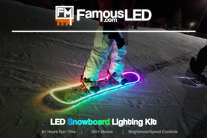 Snowboard Lighting Kit RGB LED Strip  Remote Controlled  Battery Powered