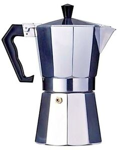 Economy Cuban coffee maker Aluminum construction . 12 cup