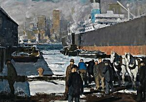 Men of the Docks by George Bellows. Fine Art Repro Made in U.S.A Giclee Prints