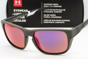 NEW UA UNDER ARMOUR PULSE SUNGLASSES Satin Carbon frame  Infrared Mirror lens