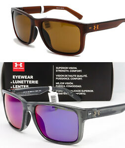 NEW UA UNDER ARMOUR ASSIST SUNGLASSES Crystal SmokeInfrared Mirror + Brown