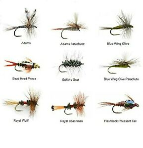 Feeder Creek Fly Fishing Lures Wet Assortment for Trout Fishing and Other... New