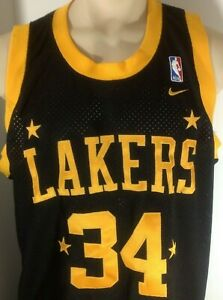 Nike Lakers Shaquille O'neal #34 NWT Jersey Men's XL NBA Licensed Basketball