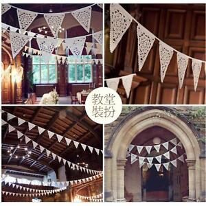 Paper Flags Banner Bunting Pennant Wedding Baby Shower Birthday Party Decor QK