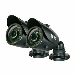 REVO America RCBS30-3BNDL2 IndoorOutdoor Bullet Surveillance Camera with Night