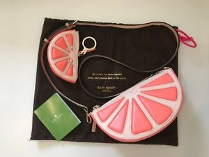 AUTH KATE SPADE NEW YORK GRAPEFRUIT CROSS BODY BAG