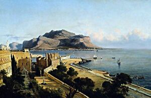 Monte Pellegrino at Palermo by George Brown Highest Quality Made in U.S.A Prints