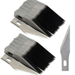 200PCS #11 Blades with 4PCS Knife Handle for x acto Light Duty Replacement