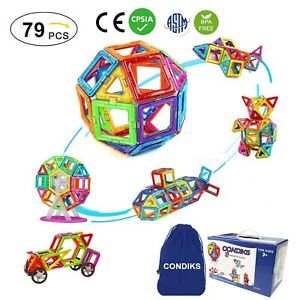 Magnetic Building Blocks for Toddlers Kids Tile Set Educational Construction Toy