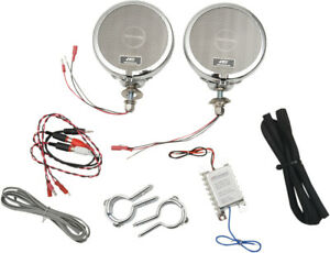 MH Motorcycle Rumble Road Ultra Amplified Stereo Chrome System For 1 14