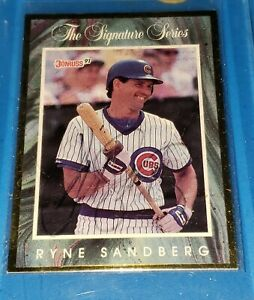RYNE SANDBERG 1991 DONRUSS ELITE SIGNATURE SERIES SIGNED CARD #15915000